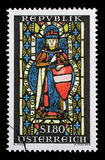 El sello impreso en la Austria muestra St Leopold Imagen de archivo libre de regalías