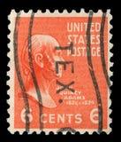 El sello impreso en los Estados Unidos de América muestra a John Quincy Adams fotos de archivo libres de regalías