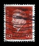 El sello impreso en el Reich alemán muestra a Friedrich Ebert imagen de archivo libre de regalías