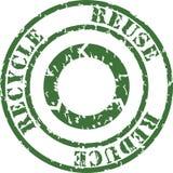 el sello recicla Fotografía de archivo