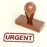 El sello urgente muestra entregas rápidas de la precipitación Imagen de archivo