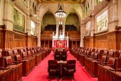 El senado del edificio del parlamento - Ottawa, Canadá Imagen de archivo libre de regalías