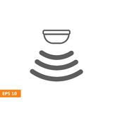 El sensor agita el icono de la señal Imagen de archivo libre de regalías