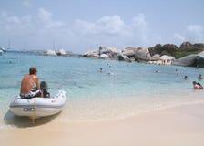 El sentarse en la bahía del diablo Fotos de archivo libres de regalías