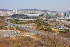 El Seoul World Cup Stadium es Corea del Sur imagen de archivo libre de regalías