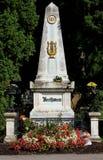 El sepulcro de Beethoven en el cementerio de los músicos en VIENA Aus Imagen de archivo libre de regalías