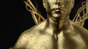El ser humano con la placa de circuito alrededor libre illustration