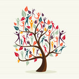 El ser humano de la diversidad deja el sistema del árbol Fotos de archivo