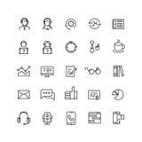 El servicio de asistencia, televenta, nos entra en contacto con línea iconos del vector libre illustration