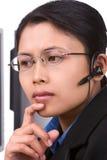 El servicio de atención al cliente está escuchando   imagenes de archivo
