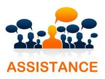 El servicio de atención al cliente indica el puesto y el consejo de informaciones Fotografía de archivo libre de regalías