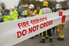El servicio de incendios no cruza Imagen de archivo libre de regalías