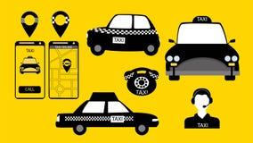 El servicio del taxi firma adentro vector libre illustration