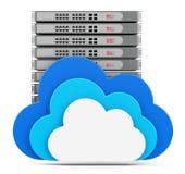 El servidor de la nube Fotos de archivo