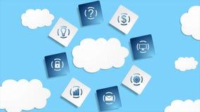 El servidor se nubla la animación abstracta del vídeo de la tecnología de la base de datos