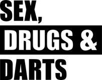 El sexo droga dardos stock de ilustración