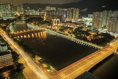 El Shing Mun River, Hong Kong - Septemper 6, 2014 Imagen de archivo libre de regalías