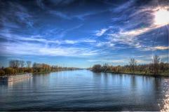 El shipstation del río Fotografía de archivo