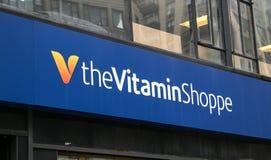 El Shoppe de la vitamina Imágenes de archivo libres de regalías