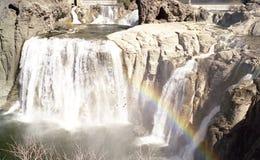 El Shoshone se cae con el arco iris foto de archivo libre de regalías