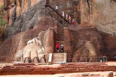 El Sigiriya (roca del león) Foto de archivo