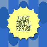 El significado de Financial Forecast Concept del analista de la escritura del texto de la escritura estima los resultados financi libre illustration