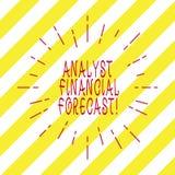 El significado de Financial Forecast Concept del analista de la escritura del texto de la escritura estima los resultados financi stock de ilustración
