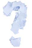 El signo de interrogación del papel Imagenes de archivo