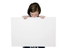 El signo más de la muchacha iguala kilroy Fotos de archivo libres de regalías