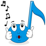 El silbar feliz del carácter de la nota de la música Imagenes de archivo