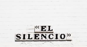 El Silencio路 库存照片