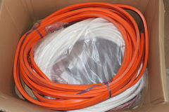 El silicón sella la naranja Imagen de archivo