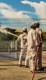 El simulacro de incendio Fotografía de archivo