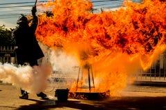 El simulacro de incendio Imagenes de archivo