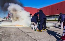 El simulacro de incendio Fotografía de archivo libre de regalías