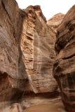 El siq del Petra Fotos de archivo
