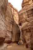 El siq del Petra Fotos de archivo libres de regalías