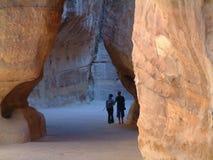 El Siq, Petra, Jordania Foto de archivo libre de regalías