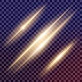El sistema creativo del vector del concepto de estrellas del efecto luminoso del resplandor estalla con las chispas Fotografía de archivo