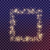 El sistema creativo del vector del concepto de estrellas del efecto luminoso del resplandor estalla con las chispas Imagen de archivo