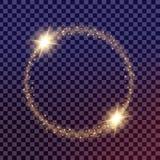 El sistema creativo del vector del concepto de estrellas del efecto luminoso del resplandor estalla con las chispas aisladas Fotografía de archivo