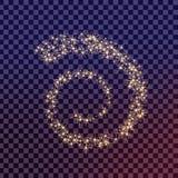 El sistema creativo del vector del concepto de estrellas del efecto luminoso del resplandor estalla con las chispas aisladas Foto de archivo libre de regalías