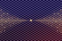 El sistema creativo del vector del concepto de estrellas del efecto luminoso del resplandor estalla con las chispas aisladas Foto de archivo