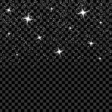 El sistema creativo del vector del concepto de estrellas del efecto luminoso del resplandor estalla con las chispas aisladas en f Foto de archivo