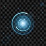 El sistema creativo del vector del concepto de estrellas del efecto luminoso del resplandor estalla con las chispas aisladas en f Imagenes de archivo