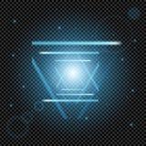 El sistema creativo del vector del concepto de estrellas del efecto luminoso del resplandor estalla con las chispas aisladas en f Imagen de archivo libre de regalías