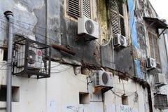 El sistema de aires acondicionados alrededor de Kota Lama Old Town, Semara Imagenes de archivo