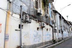 El sistema de aires acondicionados alrededor de Kota Lama Old Town, Semara Imagen de archivo