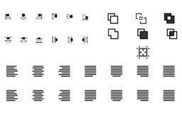 El sistema de alinea formas Foto de archivo libre de regalías