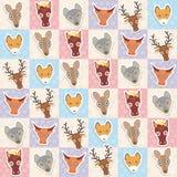 El sistema de animales divertidos abozala el modelo inconsútil del canguro de los ciervos del zorro del lobo del caballo de la va libre illustration